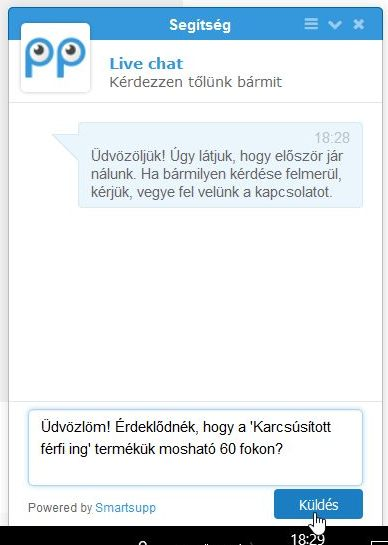 Smartsupp chat ablak